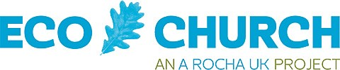 Eco Church logo- Eco Church is a A Rocha Uk Project to encourage churches to be more environmentally friendly